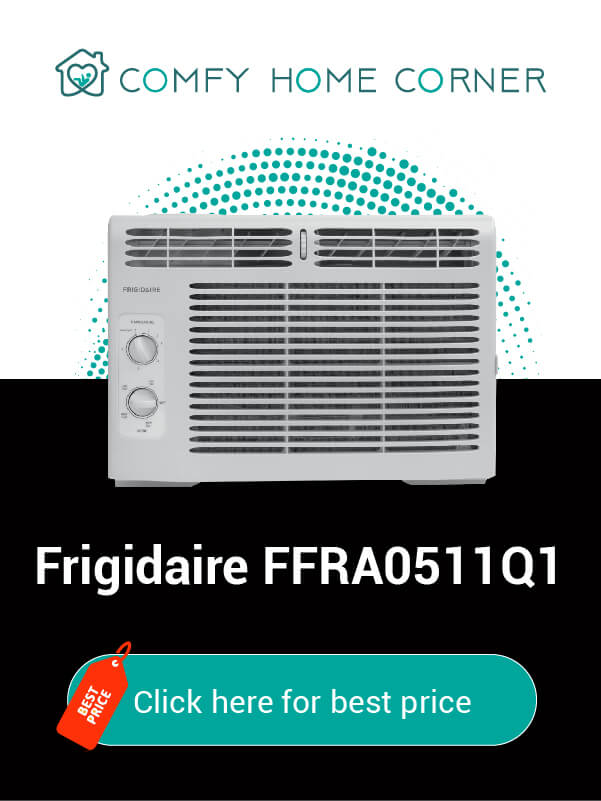 Frigidaire FFRA0511Q1: the mini compact window air conditioner with heater 115 volts