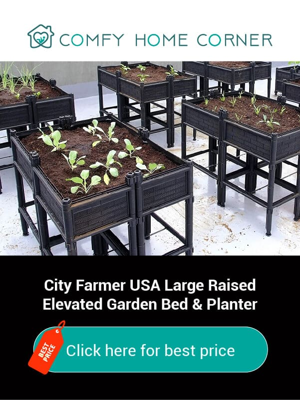 City Farmer USA Large Raised Elevated Garden Bed & Planter