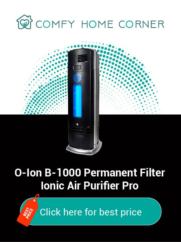 O-Ion B-1000 Permanent Filter Ionic Air Purifier Pro