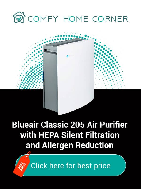 Blueair Classic 205 Air Purifier with HEPA Silent Filtration and Allergen Reduction