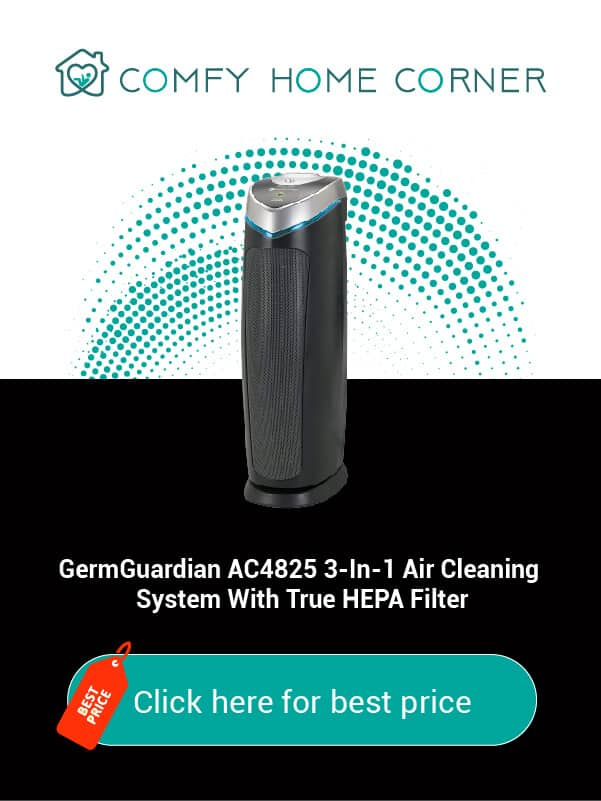 GermGuardian AC4825 3-In-1 Air Cleaning System With True HEPA Filter
