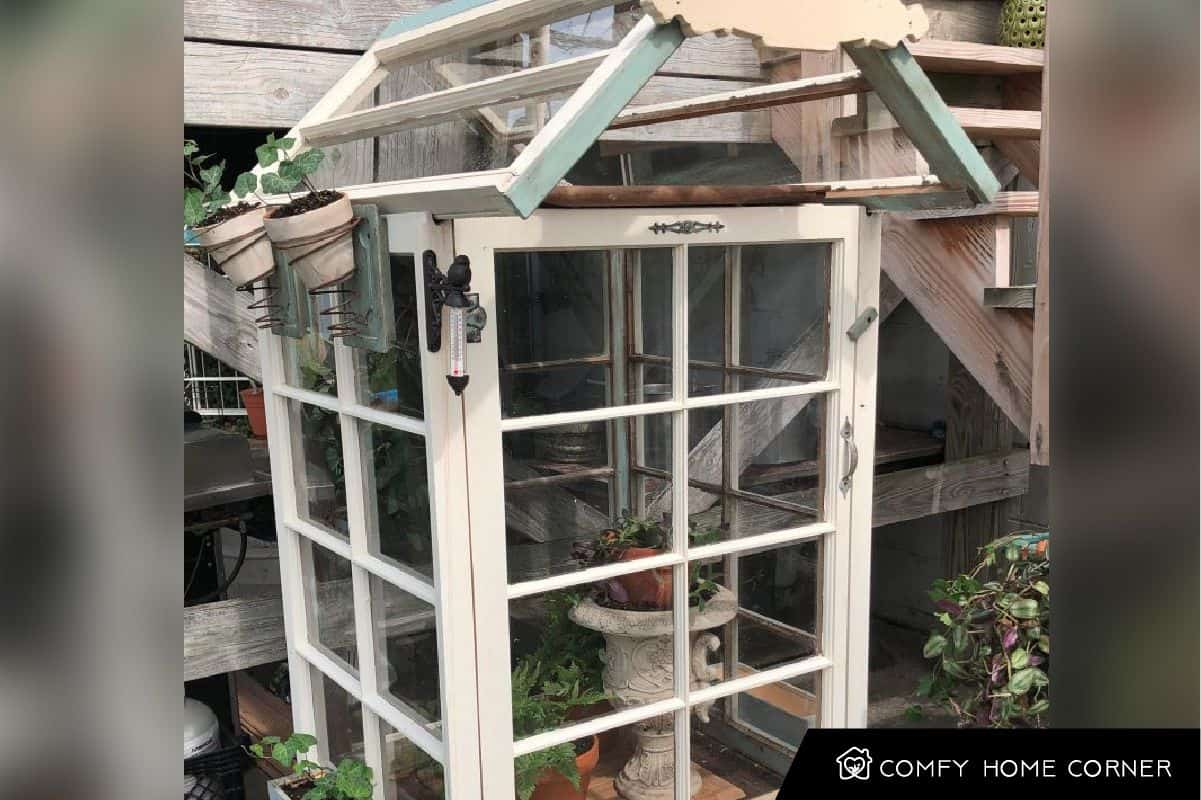 Upcycled Old Windows Greenhouse