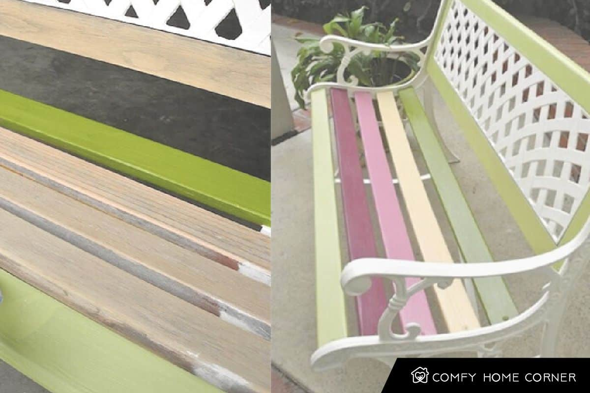 Painting your Old Plain Chair with Strips