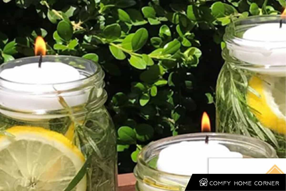 cented Floating Candle Jars