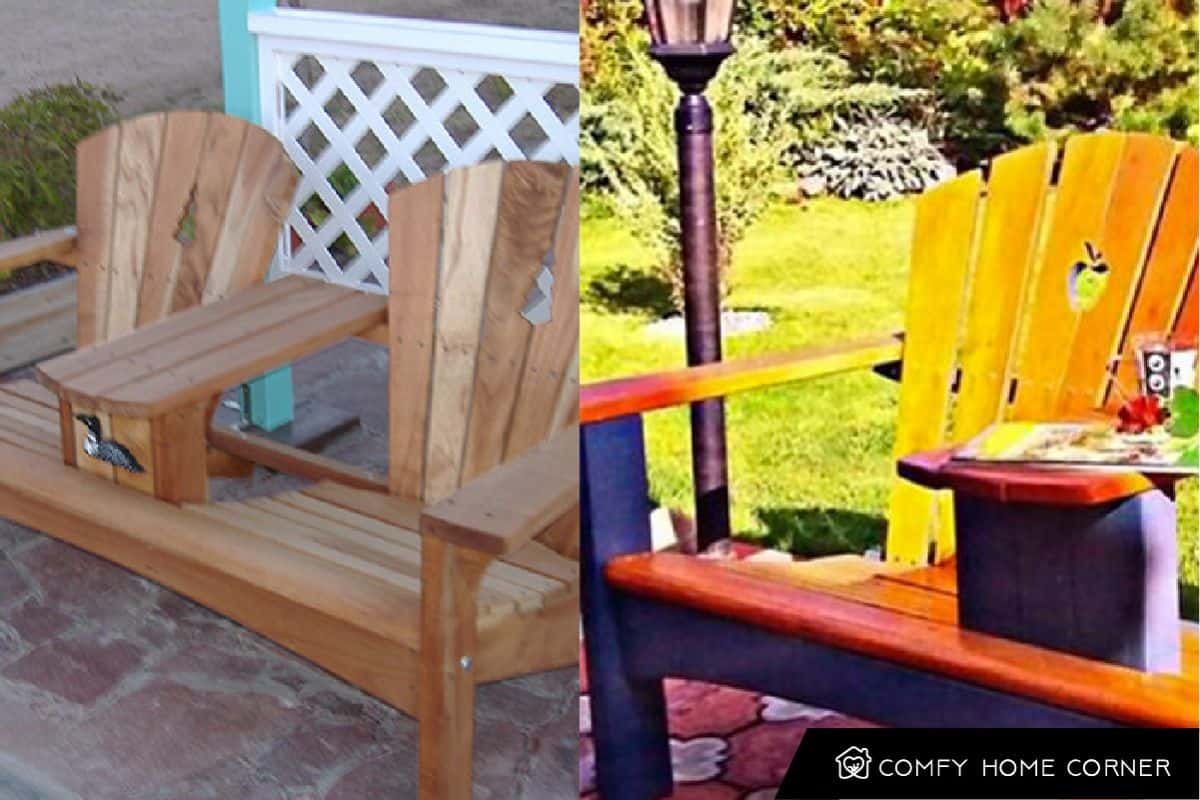 Outdoor Bench Using an Old Chair
